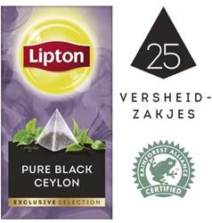 Thee Lipton Exclusive Zwarte Ceylon 25 piramidezakjes