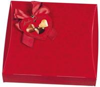 Praline Hamlet harten geschenkverpakking rood