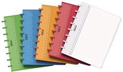 Schrift Adoc A5 144blz colorlines gelinieerd PP assorti