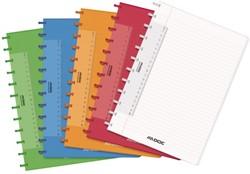 Schrift Adoc colorlines A4 lijn144blz PP assorti