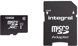 Geheugenkaart Integral Micro SDXC class10 128GB