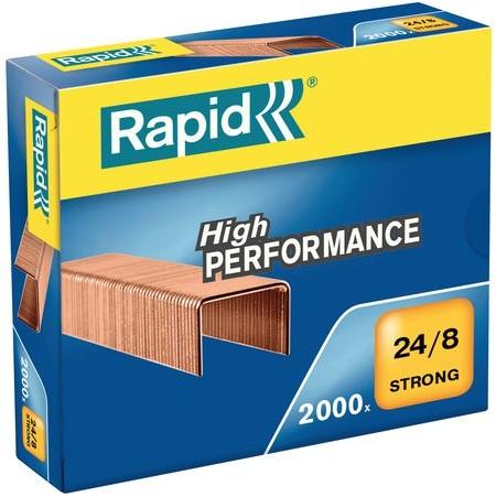Nieten Rapid 24/8 kopercoating strong 2000 stuks