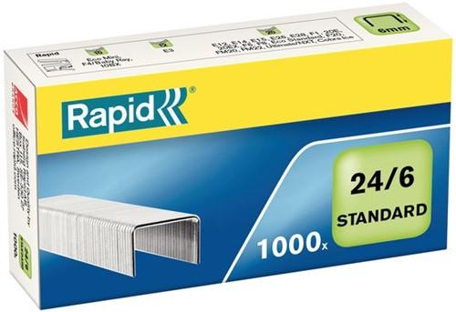 Nieten Rapid 24/6 gegalvaniseerd standaard 1000 stuks