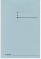 Dossiermap Esselte manilla 3klep folio blauw