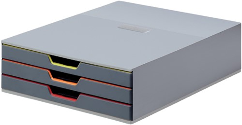 Ladenbox Durable Varicolor 3 laden grijs