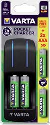 Batterij oplader Varta pocket incl. 4x2100MAH + 2x800MAH