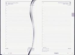 Agenda 2019 Brepols Saturnus kort 1dag/1pagina blauw