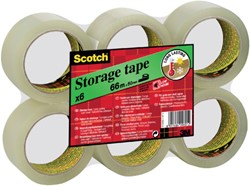 Verpakkingstape Scotch Storage 50mmx66m transparant 6 rollen