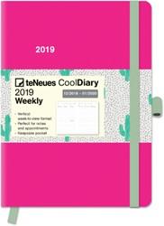 Agenda 2019 teNeues Cool 16x22cm fuchsia cactus