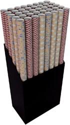 Inpakpapier Hoomark kraft giltter 150x70cm bruin