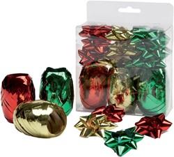 Accessoire gift kerst lint 12-delig