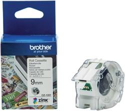 Labeltape Brother CZ-1001 9mmX5m kleur opdruk