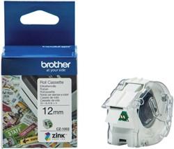 Labeltape Brother CZ-1002 12mmX5m kleur opdruk
