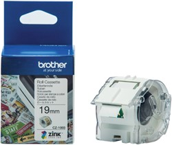 Labeltape Brother CZ-1003 19mmX5m kleur opdruk