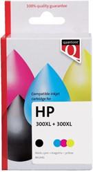 Inkcartridge Quantore HP CC641EE CC644EE 300XL zwart + kleur