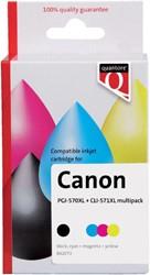 Inkcartridge Quantore Canon PGI-570XL CLI-571XL zwart kleur
