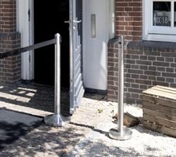 Asbak staand Securit RVS Pole