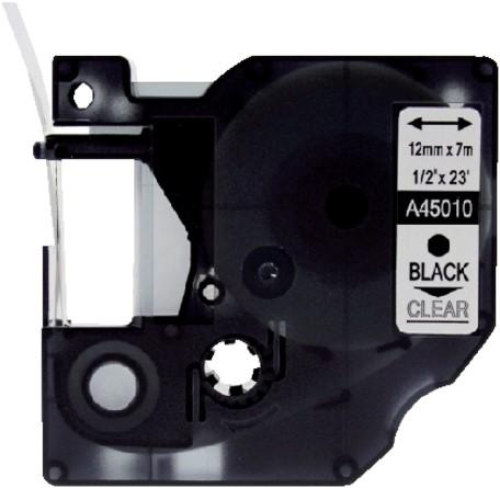 Labeltape Quantore 45013 12mmx7m zwart op wit-3