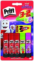Lijmstift pritt 11gr In to Space 3+2 gratis blister