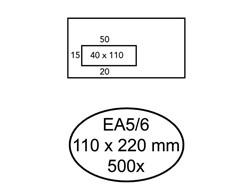 Envelop Hermes EA5/6 110x220mm venster 4x11links zelfkl 500