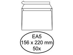 Envelop Hermes Digital EA5 156x220mm zelfklevend wit 50stuks