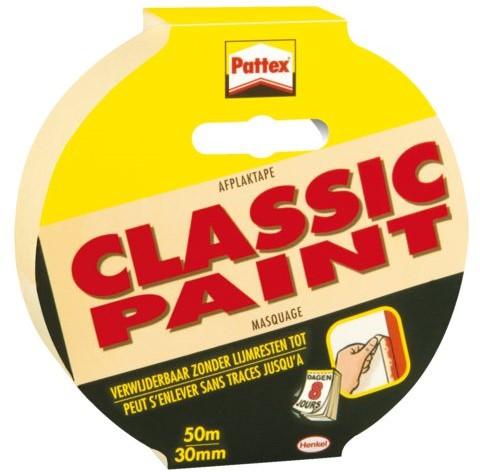 Afplaktape Pattex Classic 30mmx50m creme