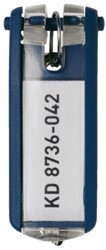 Sleutellabel Durable 1957 met ring blauw