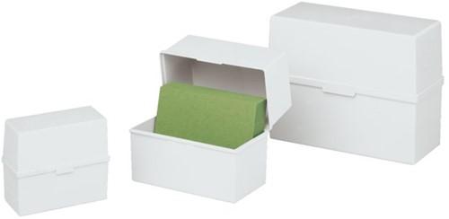 Kaartenbak Exacompta A7 kunststof grijs-2