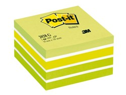 Memoblok 3M Post-it 2028G kubus 76x76mm aqua groen 450vel