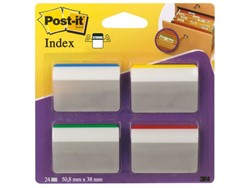 Indextabs 3M Post-it 686A1 strong 50mm 4 kleuren