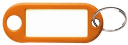 Sleutellabel kunststof oranje