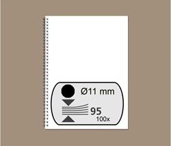 Draadrug GBC 11mm 34-rings A4 zwart 100stuks