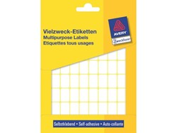 Etiket Avery Zweckform 3312 18x12mm wit 1800stuks