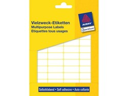 Etiket Avery Zweckform 3318 22x18mm wit 1200stuks