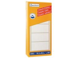 Etiket Avery Zweckform 3617 101.6x48.4mm 1-baans wit 2000st,