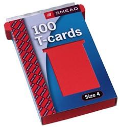 Planbord T-kaart A5547-422 107mm rood