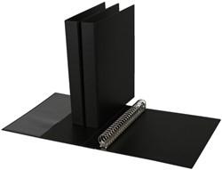 Ringband Quantore A4 23-rings D-mech 27mm PP zwart