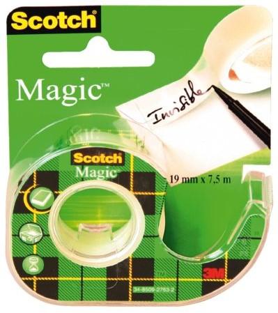 Plakband Scotch Magic 810 19mmx7.5m onzichtbaar + afroller