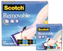 Onzichtbaar plakband Scotch 811 19mmx66m verwijderbaar