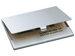 Visitekaartenhouder Sigel VZ136 duo 2x15 kaarten graveerbaar mat zilver
