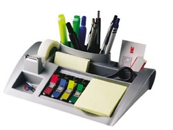 Bureau organiser 3M Post-it C50 zilvergrijs