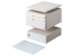 Stapelcassette Pas A6859-101 voetstuk + afdekplaat grijs