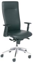 Manager-fauteuil Vienna - Leder zwart